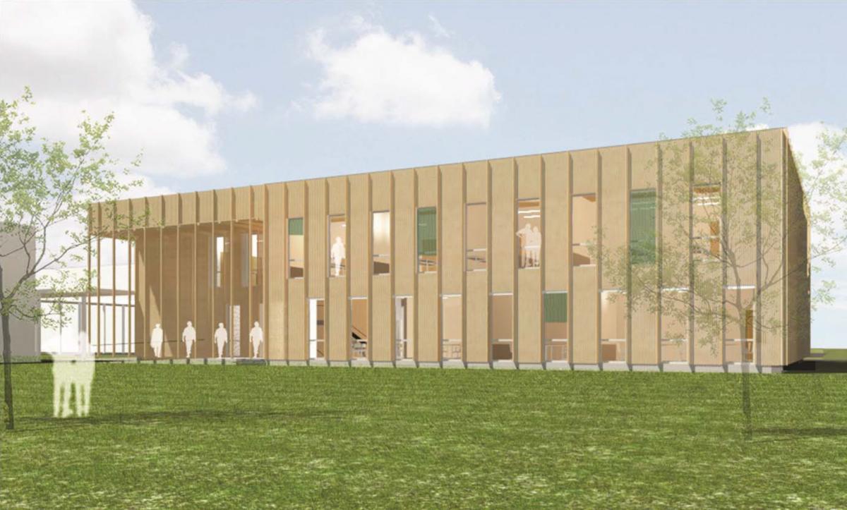 Moderner holzbau innen  Moderner Holzbau für die BOKU in Tulln   BIG Nachhaltigkeit